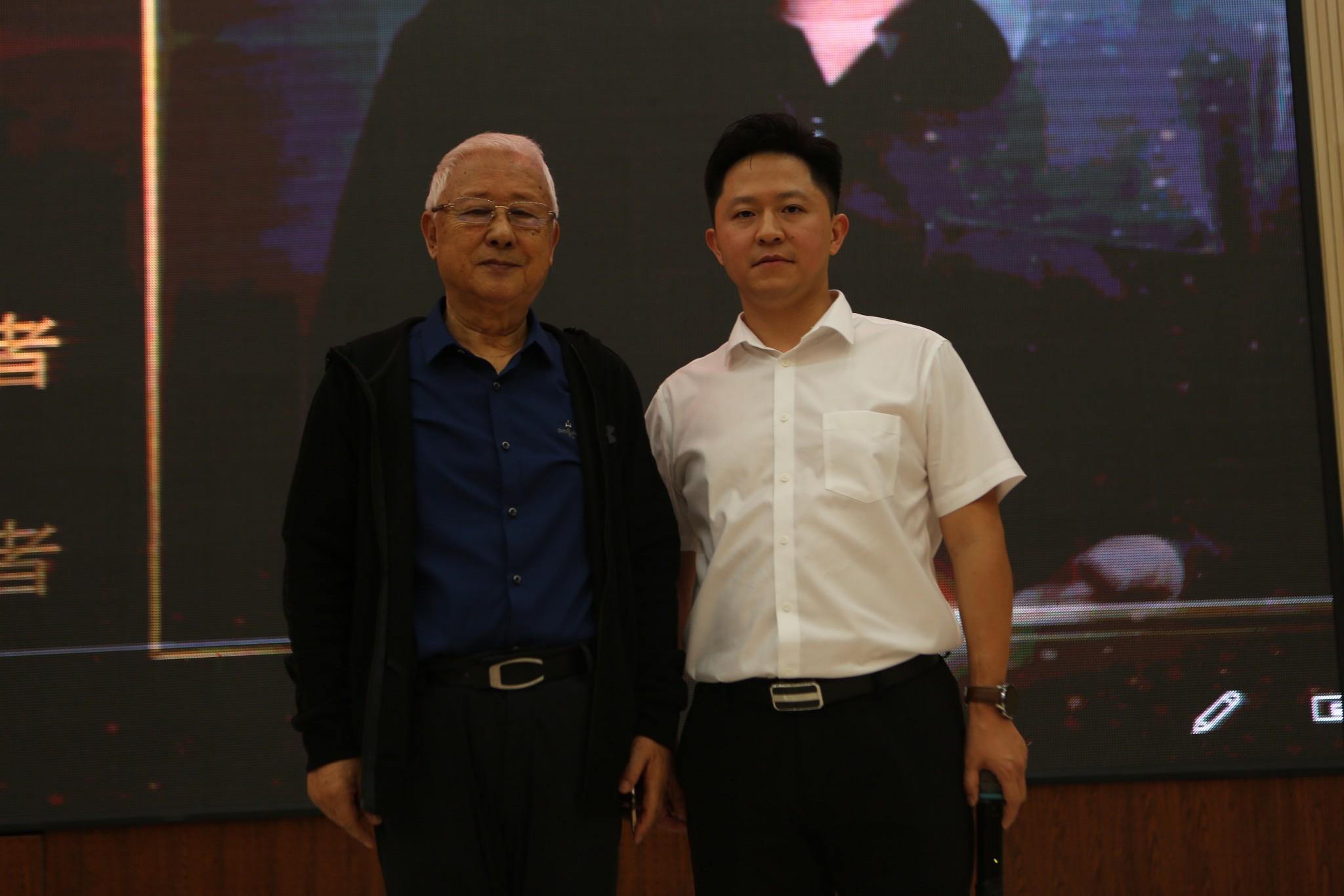 魏国锋校长与著名舞蹈艺术家、原北京舞蹈学院院长吕艺生教授